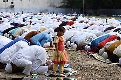 September 2, 2017 - Allahabad, Uttar Pradesh, India - Allahabad: Muslims offer prayer on the occasion of Eid-al-Adha at Eidgaah in Allahabad on 02-09-2017. Photo by prabhat kumar verma (Credit Image: © Prabhat Kumar Verma via ZUMA Wire)