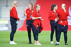 NEWPORT, WALES - Tuesday, June 12, 2018: Wales' Kylie Nolan on the pitch before the FIFA Women's World Cup 2019 Qualifying Round Group 1 match between Wales and Russia at Newport Stadium. (Pic by David Rawcliffe/Propaganda)