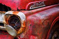 Retired volunteer fire department truck in Kodiak, Alaska