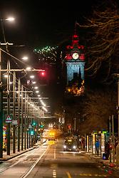 01JAN21 Midnight on Princes Street, Edinburgh on Hogmanay.