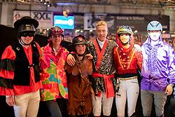 Kreuzer Andreas (GER), Hassmann Felix (GER), Sprehe Jörne (GER), Stevens Mario (GER), Blum Simone (GER)<br /> Stuttgart - German Masters 2018<br /> © Hippo Foto - Stefan Lafrentz