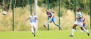 Mary Onianwa firing in Palace's equaliser from distance during the Pre-Season Friendly match between Crystal Palace LFC and Queens Park Rangers Ladies at the The Stadium, Bromley, United Kingdom on 19 July 2015. Photo by Michael Hulf.