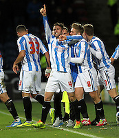 Huddersfield Town's Oliver Norwood celebrates scoring his sides first goal <br /><br />Photo by Mick Walker/CameraSport<br /><br />Football - The Football League Sky Bet Championship - Huddersfield Town v Burnley - Saturday 30th November 2013 - The John Smith's Stadium - Huddersfield<br /><br />© CameraSport - 43 Linden Ave. Countesthorpe. Leicester. England. LE8 5PG - Tel: +44 (0) 116 277 4147 - admin@camerasport.com - www.camerasport.com