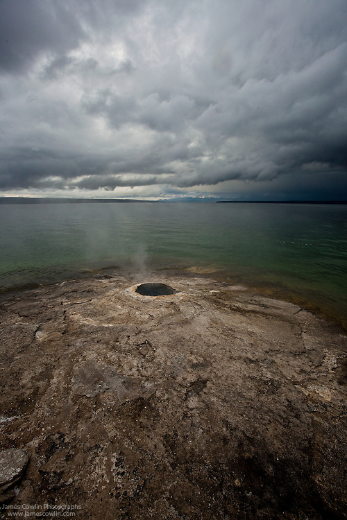 Big Cone in West Thumb Geyser Basin on Yellowstone Lake in Yellowstone National Park