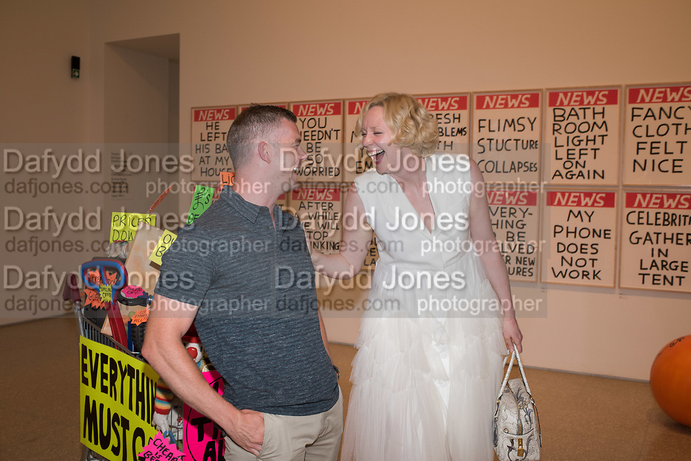 RUSSELL TOVEY, GWENDOLINE CHRISTIE;  RA & Pin Drop Short Story Award, presented by Gwendoline Christie who also gives a reading. Reception at the RA Schools for the launch the new book A Short Affair.