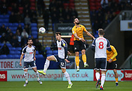 Bolton Wanderers Josh Earl(left) in action during the EFL Sky Bet League 1 match between Bolton Wanderers and Southend United at the University of  Bolton Stadium, Bolton, England on 21 December 2019.