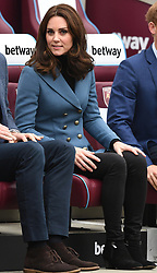 The Duke and Duchess of Cambridge and Prince Harry attend the graduation ceremony for more than 150 Coach Core apprentices at The London Stadium, London, UK, on the 18th October 2017. 18 Oct 2017 Pictured: Catherine, Duchess of Cambridge, Kate Middleton. Photo credit: James Whatling / MEGA TheMegaAgency.com +1 888 505 6342