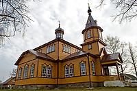 Juszkowy Grod, woj podlaskie, 09.11.2008. N/z drewniana cerkiew z konca XIX wieku fot Michal Kosc / AGENCJA WSCHOD