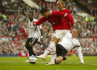 Photo: Aidan Ellis.<br /> Manchester United v Charlton Athletic. The Barclays Premiership. 07/05/2006.<br /> United's Cristiano Ronaldo scores the second goal