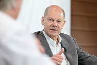 """08 JUN 2021, BERLIN/GERMANY:<br /> Olaf Scholz, SPD, Bundesfinanzminister, Wirtschaftskonferenz, Wirtschaftsforum der SPD """"Post-Coronomics - Transformation, Wachstum, Beschäftigung"""", Axica Kongresszentrum<br /> IMAGE: 20210608-01-048"""