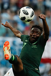 June 26, 2018 - Saint Petersburg, Russia - Ahmed Musa of Nigeria national team during the 2018 FIFA World Cup Russia group D match between Nigeria and Argentina on June 26, 2018 at Saint Petersburg Stadium in Saint Petersburg, Russia. (Credit Image: © Mike Kireev/NurPhoto via ZUMA Press)