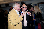 CHRISTOPHER BIGGINS; NEIL SINCLAIR, Opening of Love is what you want. Exhibition of work by Tracey Emin. Hayward Gallery. Southbank Centre. London. 16 May 2011. <br /> <br />  , -DO NOT ARCHIVE-© Copyright Photograph by Dafydd Jones. 248 Clapham Rd. London SW9 0PZ. Tel 0207 820 0771. www.dafjones.com.