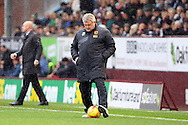 Hull City Manager Steve Bruce in action. Skybet football league Championship match, Burnley v Hull city at Turf Moor in Burnley ,Lancs on Saturday 6th February 2016.<br /> pic by Chris Stading, Andrew Orchard sports photography.
