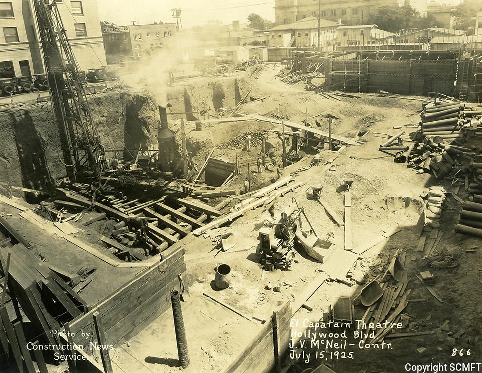 7/15/1925 Construction of the El Capitan Theater