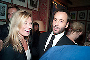 KATE MOSS; TOM FORD; , Graydon Carter hosts a diner for Tom Ford to celebrate the London premiere of ' A Single Man' Harry's Bar. South Audley St. London. 1 February 2010