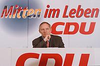 10.01.1999, Deutschland/Bonn:<br /> Wolfagng Schäuble, CDU Parteivorsitzender, Pressekonferenz nach der Klausurtagung des CDU-Bundesvorstandes, Konrad-Adenauer-Haus, Bonn<br /> IMAGE: 19990110-01/01-31<br /> KEYWORDS: Wolfgang Schaeuble