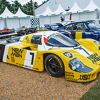Le Mans 1985 winner – #7, Porsche 956B, New-Man Joest Racing, driven by Barilla/Ludwig/Winter on 05/07/2018 at the Le Mans Classic, 2018