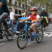 Cyclist Assembling Lincoln Inn Fields for a National Funeral for the Unknown Cyclist march to Parliament Square to honour and mark the deaths in London, UK. 13 October 2018.