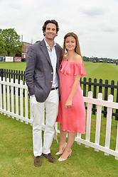 RUPERT & LADY NATASHA FINCH at the Cartier Queen's Cup Final 2016 held at Guards Polo Club, Smiths Lawn, Windsor Great Park, Egham, Surry on 11th June 2016.
