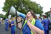 "NHS (National Health Service) workers gathered in St James's Park, London, on Saturday, Aug 8, 2020, to protest over a pay rise. <br /> Grassroot NHS workers are angry after they were left out of plans to give almost a million public sector workers an above-inflation increase. Marches planned on Saturday morning in Cardiff, Swansea, Merthyr and Bridgend are part of a UK-wide protest. Ministers say they were working with unions to ensure the ""best possible"" pay package for all health workers. (VXP Photo/ Vudi Xhymshiti)"