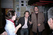 TOM HOLLANDER AND JAMES PUREFOY, Young Vic fundraising Gala after performance of Vernon God Little. The cut. London. 10 May 2007.  -DO NOT ARCHIVE-© Copyright Photograph by Dafydd Jones. 248 Clapham Rd. London SW9 0PZ. Tel 0207 820 0771. www.dafjones.com.
