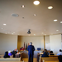 021814  Adron Gardner/Independent<br /> <br /> Rehoboth McKinley Christian Hopsital CEO Barry Mousa presents the RMCH quarterly financial report to the McKinley County Commission at the McKinley County Courthouse in Gallup Tuesday.
