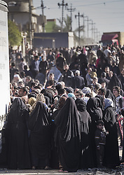 November 20, 2016 - Mosul, Nineveh Governorate, Iraq - Food distribution at the liberated part of Mosul. (Credit Image: © Bertalan Feher via ZUMA Wire)