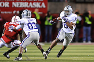 November 21, 2009: Running back Daniel Thomas #8 of the Kansas State Wildcats rushes up field for a first down in the second quarter against the Nebraska Cornhuskers at Memorial Stadium in Lincoln, Nebraska.