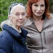 NLD/Amersfoort/20120518 - Persconferentie Jane Goodall, Marian Mudder en Jane