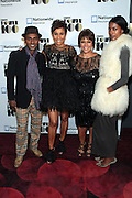November 2, 2012- New York, NY: (L-R) Celebrity Chef Marcus Samuelsson, Desiree Rogers, CEO, Johnson Publishing Company, Linda Johnson Rice, Chair, Johnson Publishing Company and Model Maya Gate Samuelsson at the Ebony Power 100 Gala Presented by Nationwide held at Jazz at Lincoln Center on November 2, 2012 in New York City. The EBONY Power 100 Gala Presented by Nationwide salutes the country's most influential African Americans.(Terrence Jennings)
