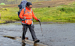 09-07-2014 ISL: Iceland Diabetes Challenge Dag 5, Emstrur<br /> Van Alftavatn naar Emstrur / Ellen Liklikwatil
