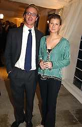 MISS GEORGIE CLEEVE and TOM KINGSTON at a party hosted by Bentley motorcars held at The Orangery, Kensington Palace, London on 3rd November 2004.<br /><br />NON EXCLUSIVE - WORLD RIGHTS