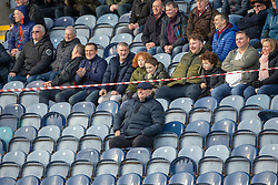 Arbroath's manager Dick Campbell in the stand during the first half. Raith Rovers 0 v 1 Arbroath. Scottish Football League Division One game played 16/2/2109 at Stark's Park.