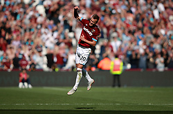 West Ham United's Andriy Yarmolenko celebrates his side's second goal of the game during the Premier League match at London Stadium.