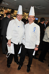 Left to right, Chefs JULIE WALSH and LOIC MALFAIT at the Grand Opening of Le Cordon Bleu's International Flagship School at 15 Bloomsbury Square, London WC1 on 7th February 2012.