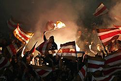 01.10.2010, AWD Arena, Hannover, GER, FBL, Hannover 96 vs FC St  Pauli, im Bild Feuerwerk im Block der St Pauli Fans EXPA Pictures © 2010, PhotoCredit: EXPA/ nph/  Schrader+++++ ATTENTION - OUT OF GER +++++