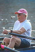 Henley-On-Thames, Berkshire, UK., Wednesday,  12/08/2020,  Masters Rowing, Cap-Mounted Sculler's Mirror, Rear View Mirror used for Rowing and Sculling Right , fits on your Hat, to give - Full & Wide Back View  [ Mandatory Credit © Peter Spurrier/Intersport Images], , Training during, the  coronavirus (COVID-19), pandemic,