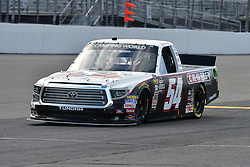 June 22, 2018 - Madison, Illinois, U.S. - MADISON, IL - JUNE 22:  Bo LeMastus (54) driving a Toyota for Cosley Brands and DGR-Crosley warms up before  the Camping World Truck Series - Eaton 200 on June 22, 2018, at Gateway Motorsports Park, Madison, IL.   (Photo by Keith Gillett/Icon Sportswire) (Credit Image: © Keith Gillett/Icon SMI via ZUMA Press)