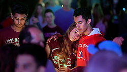 Thousands attend an interfaith service at Pine Trails Park in Parkland, FL, USA, to remember the 17 victims killed last year at Marjory Stoneman Douglas High School, on Thursday, February 14, 2019. Photo by Michael Laughlin/Sun Sentinel/TNS/ABACAPRESS.COM