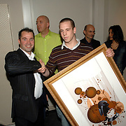 NLD/Amsterdam/20060216 - Senseo Artworks Event, winnaar Jeroen de Boer
