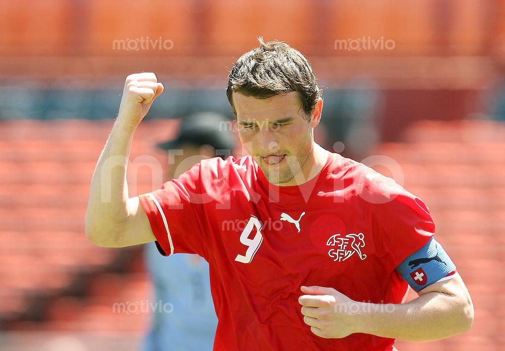 Fussball International Testspiel  Schweiz 1-3 Kolumbien JUBEL; Alexander Frei (SUI)