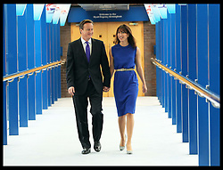 Prime Minister David Cameron  and wife Samantha leave their hotel before his speech at the Conservative Party Conference  in Birmingham, Wednesday, 10th October 2012. Photo by: Stephen Lock / i-Images