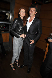 """COLIN RADCLIFFE and model ANGELA DUNN at a party and exclusive private view of 'Naked Portrait With Reflection"""" by Lucian Freud hosted by Christie's held at 17 Berkeley Street, London on 17th June 2008.<br /><br />NON EXCLUSIVE - WORLD RIGHTS"""