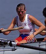Barcelona, SPAIN.  GBR W8+, Philippa CROSS,  1992 Olympic Rowing Regatta Lake Banyoles, Catalonia [Mandatory Credit Peter Spurrier/ Intersport Images]