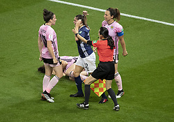 Milagros MENENDEZ (ARG) loosing her nerves during the match of 2019 FIFA Women's World Cup France group D match between Scotland and Argentina, at Parc Des Princes stadium on June 19, 2019 in Paris, France. Photo by Loic Baratoux/ABACAPRESS.COM