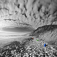 Portfolio Images. RGB, Altocumulus clouds, Compton Bay, IOW.