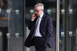 © Licensed to London News Pictures. 10/12/2018. London, UK. Michael Gove leaves a Conservative Friends of Israel event in central London. Mrs May is expected to call off tomorrows withdrawal agreement vote when she speaks in the House of Commons later. Photo credit: Peter Macdiarmid/LNP