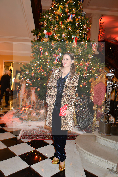 KELLY EASTWOOD at a party to celebrate the unveiling of the 2014 Claridge's Christmas tree by Dolce & Gabbana at Claridge's, Brook Street, London on 19th November 2014.