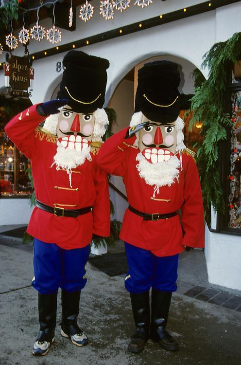 North America, USA, Washington, Leavenworth. Nutcracker at annual Christmas festival