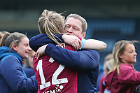 Football - 2018 / 2019 SSE Women's FA Cup - Semi Final: Reading FC Women vs. West Ham United Women<br /> <br /> West Ham United Head Coach Matt Beard celebrates with Kate Longhurst of West Ham after the penalty shoot out win at Adams Park <br /> <br /> COLORSPORT/SHAUN BOGGUST